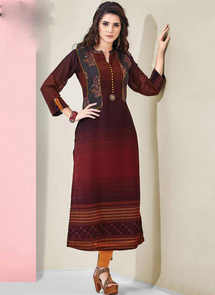 Party Wear Straight Kurti