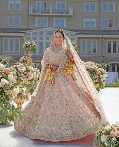 Pastel Color Bridal Lehenga