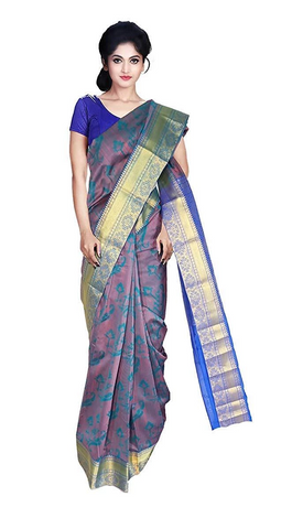 Peacock Blue Bridal Saree