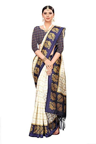Peacock Blue Designer Saree