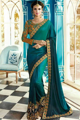 Peacock Blue Pattu Saree