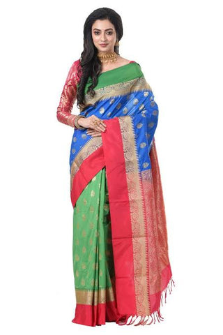 Peacock Combination Saree
