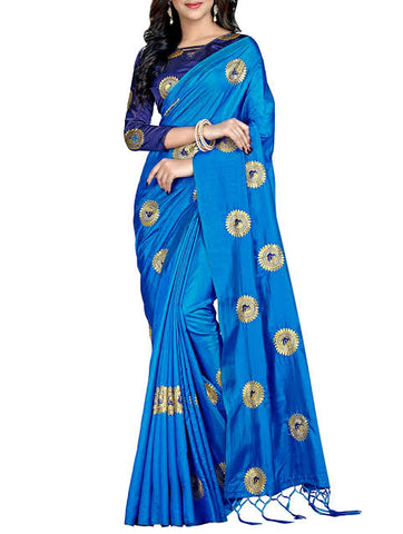 Peacock Embroidery Saree