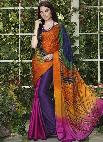 Peacock Feather Saree