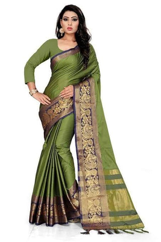 Peacock border saree