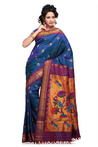 Peacock pathani saree