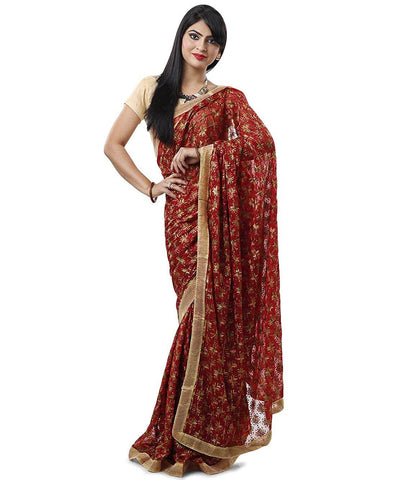Phulkari Embroidery Saree