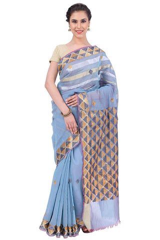 Phulkari Silk Saree