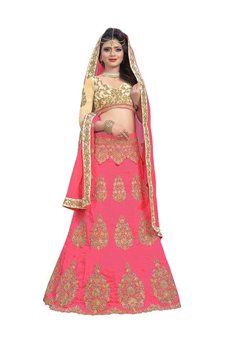 Pink Party Wear Lehenga