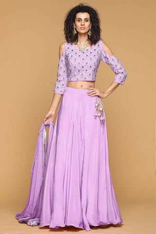 Purple Lehenga Skirt