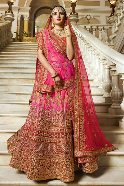 Rani Color Bridal Lehenga