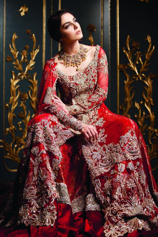 Red Sharara Lehenga