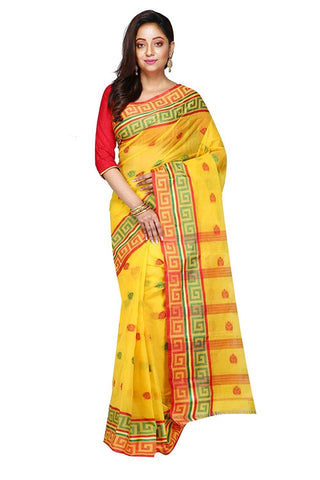Red Yellow Tant Saree