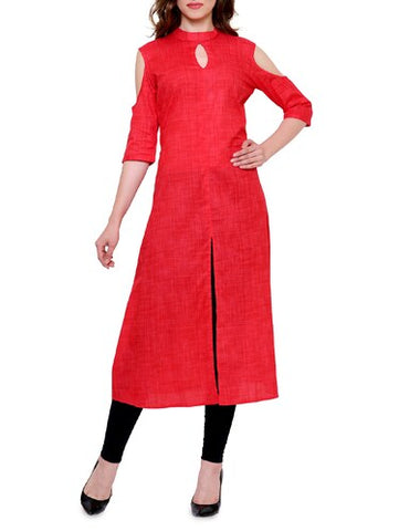Red Gown Kurti