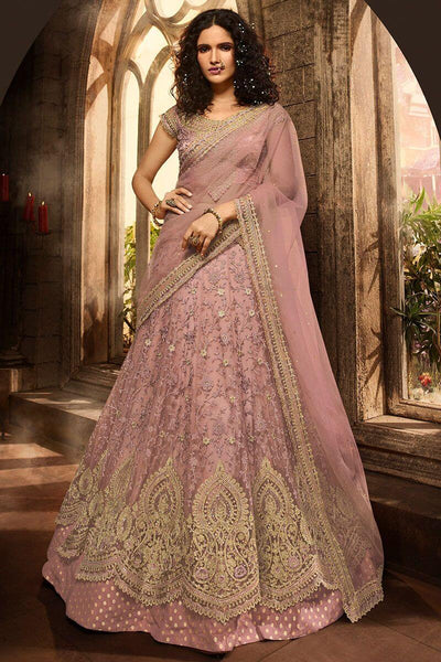 Rose Gold Bridal Lehenga