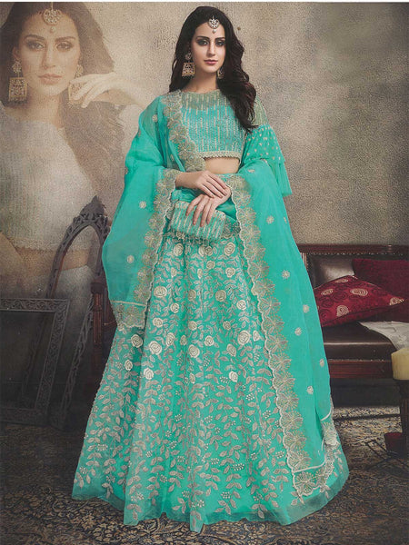 Sea Green Bridal Lehenga