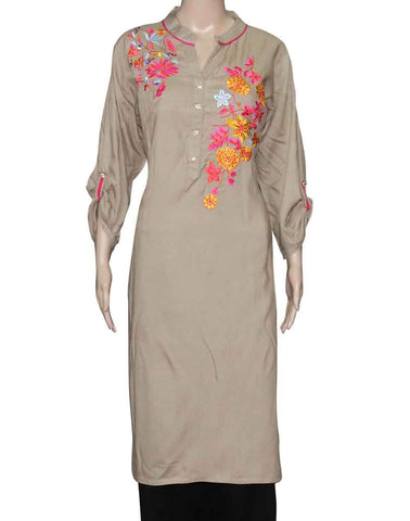 Simple Embroidery Kurtis