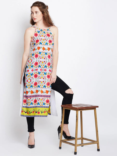 Sleeveless Straight Kurti