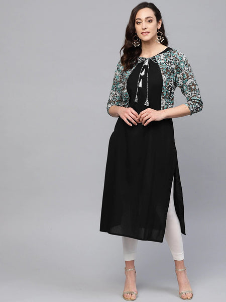 Straight Kurti With Jacket