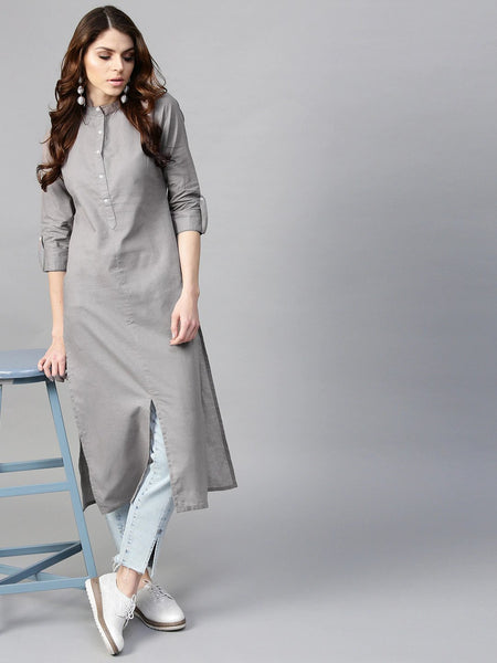 Straight Kurti With Jeans