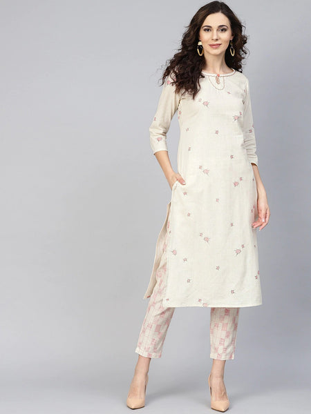 Straight Kurti With Palazzo Pants