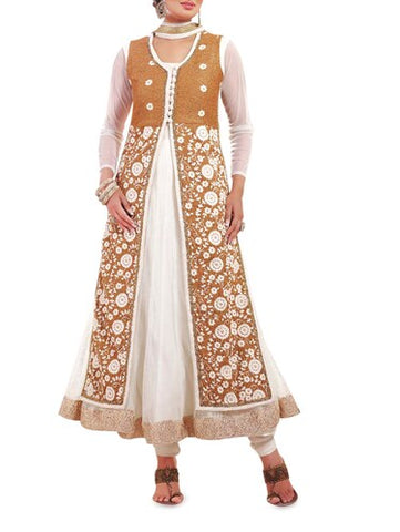 The layered Anarkali dress