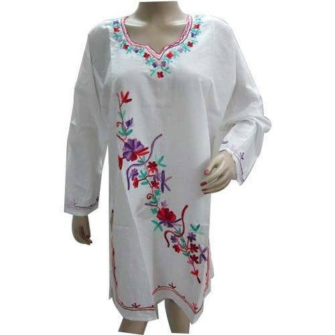 Thread Embroidery Kurtis