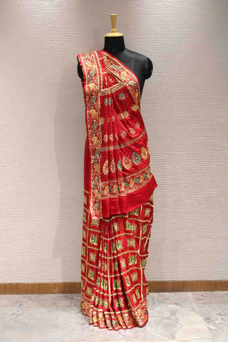 Traditional gharchola saree