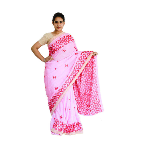 Traditional Phulkari Saree