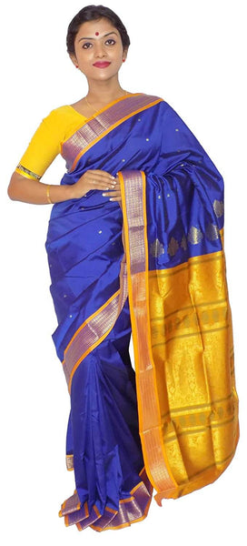 Yellow Bomkai Saree