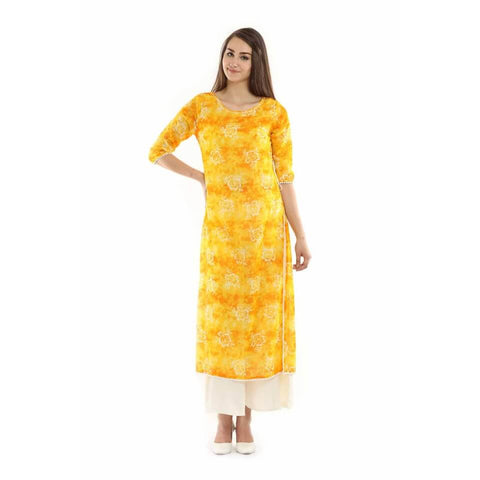 Yellow Colour Long Kurti