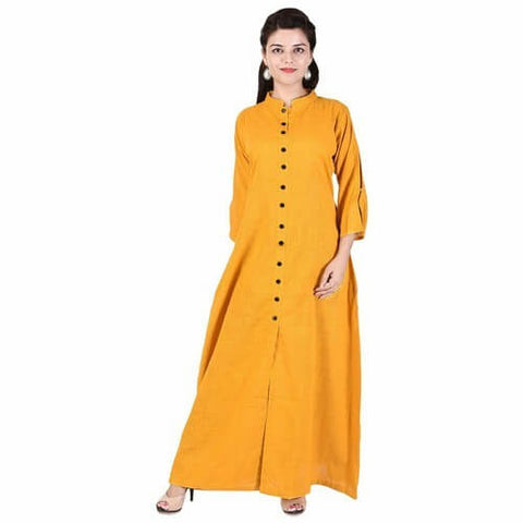 Yellow Long Kurti