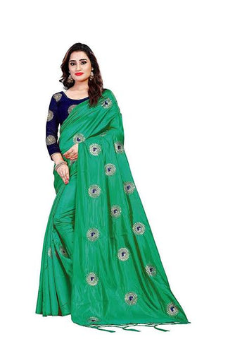 Peacock Green Saree