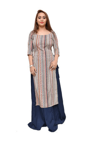 Long Skirt With Long Kurti