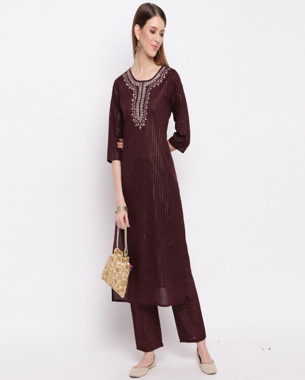 Shopping Embroidered Kurti Palazoo Set