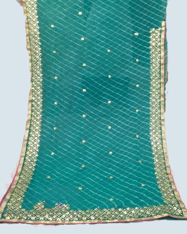 Chiffon gota patti saree with blouse