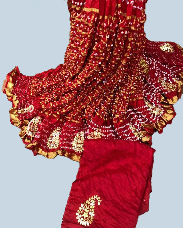 All purpose bandhej traditional saree