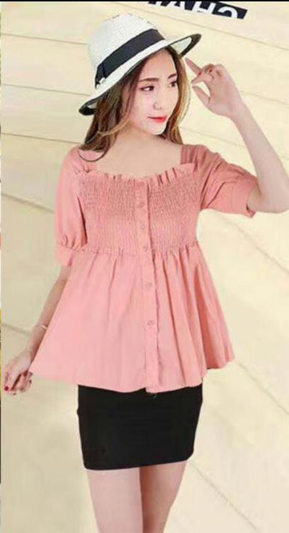 Unlock Fashion Summer Elasticated Cotton Top for Girls