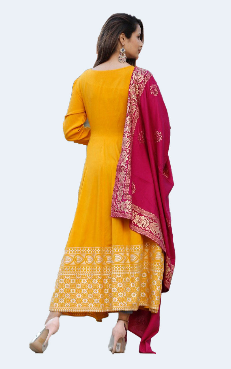 Jacket Anarkali Dupatta