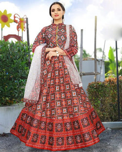 Multicolored Women's Ethnic Gowns