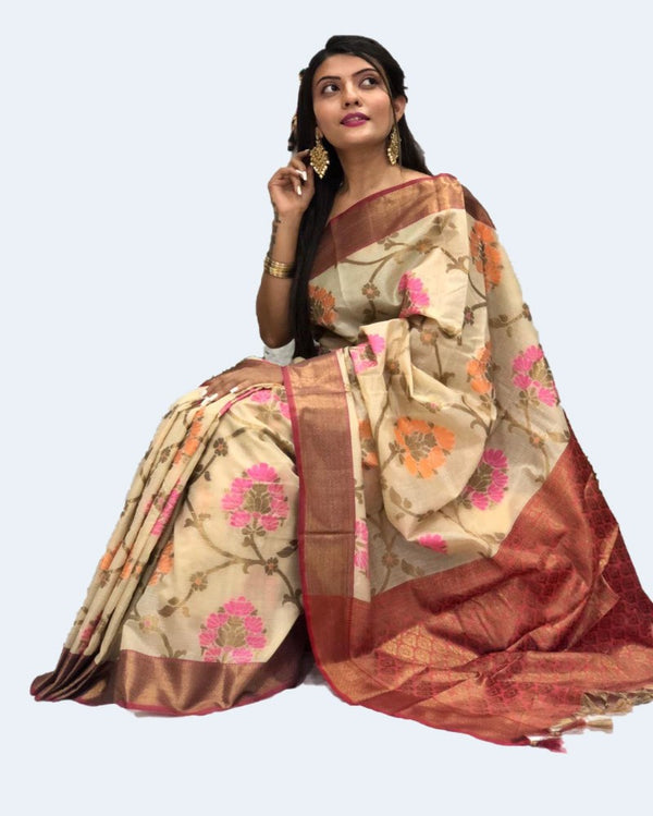 Muslin Stunned Weaving Saree