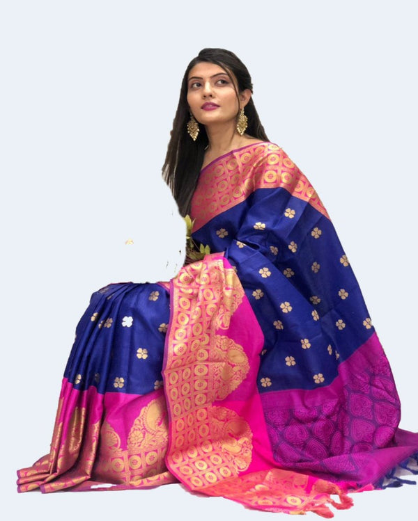 Puja Wear Multiple Muslin Saree