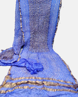 Blue ghatchola saree