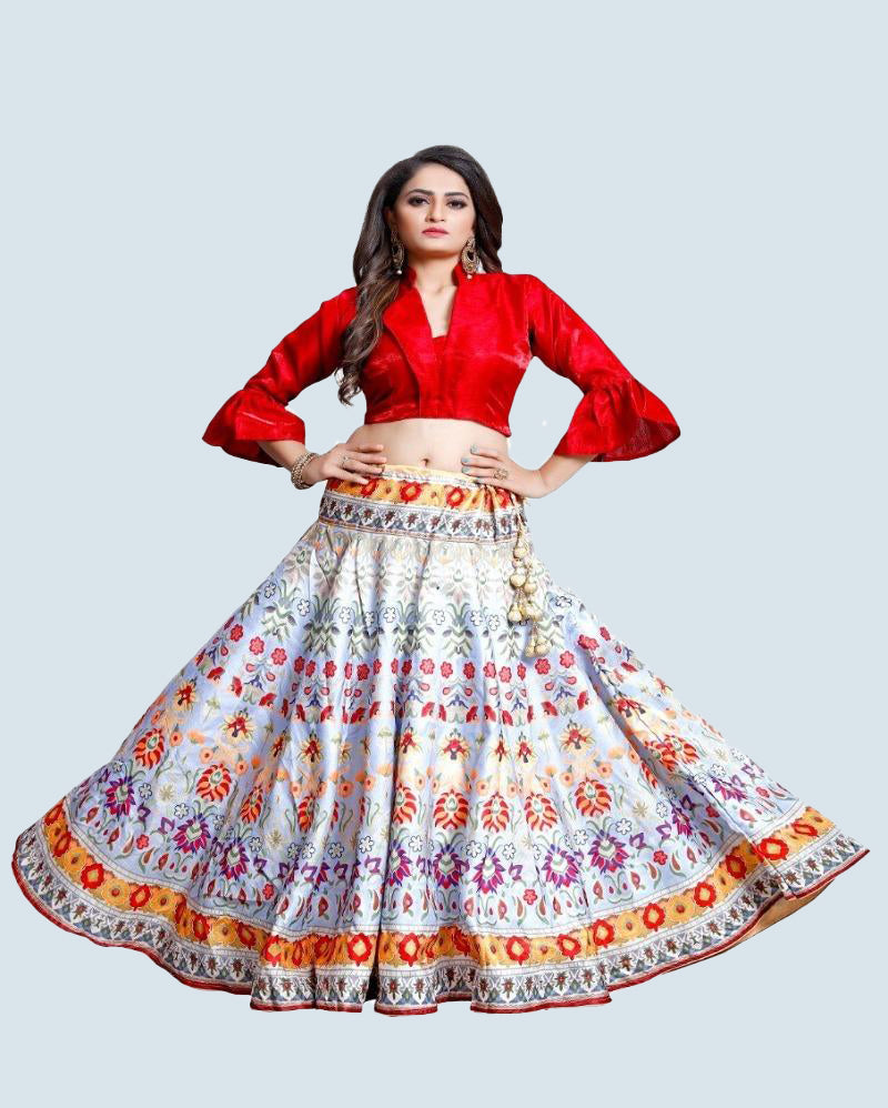 Red Designer heavy Lehenga Choli