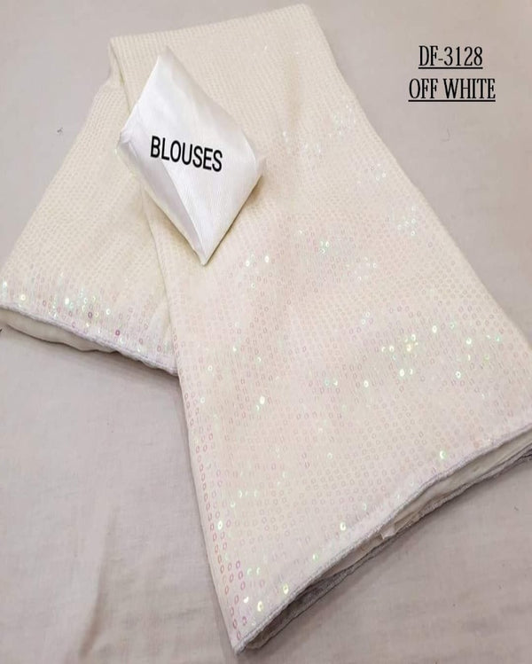 White Squence small star pretty saree
