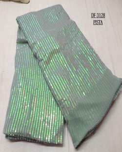 Pista Squence small star pretty saree