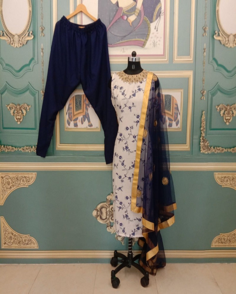 Navy Blue Designer Function patiyala suitset