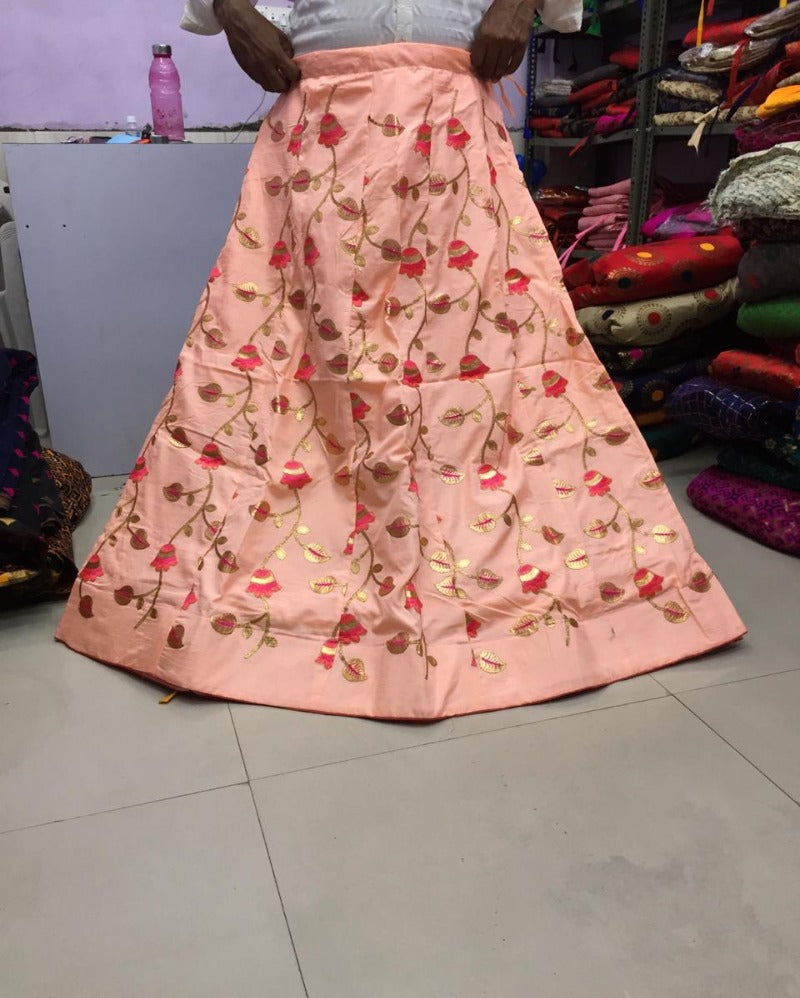 Malbari silk Heavy Peach Skirt