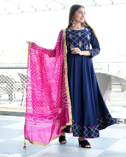 Sangeet Embroidery Gown With Dupatta