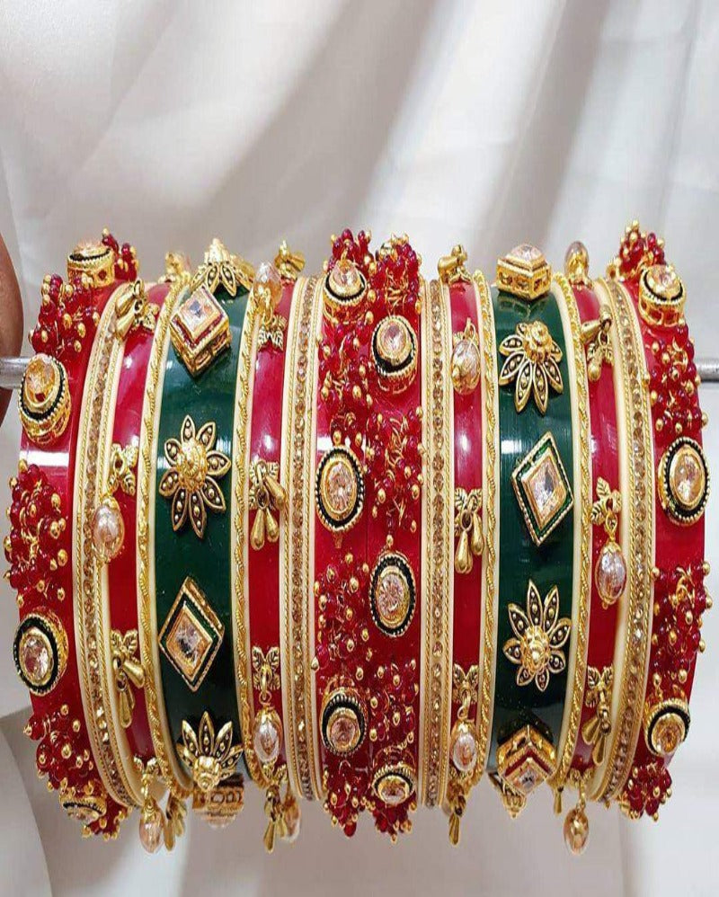 Rajwadi Multi Bridal Chooda Bangles